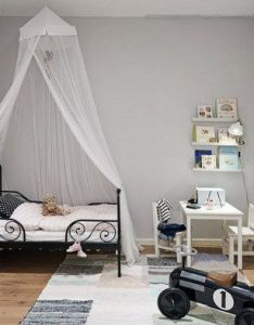 Kids bedroom furniture idea canopy bed with metal frame interior color schemes pinterest frames design and colour also rh za