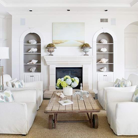 Coastal inspired living room also home decorating beach  color filled rh pinterest