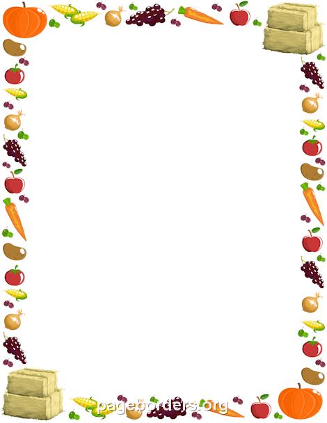 Printable harvest border Use the border in Microsoft Word