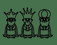 Dibujo de Los 3 Reyes Magos para Colorear | Dibujos de ...