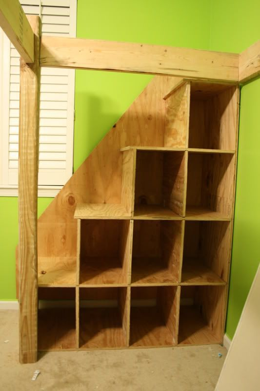 Loft Bed with Steps with storage to a loft bed. These