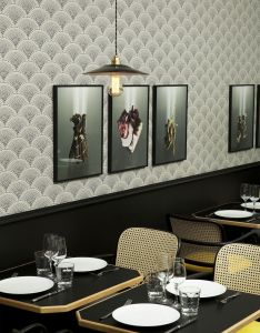 Restaurant manger paris flodeau cole  son feather fan wallpaper also rh pinterest