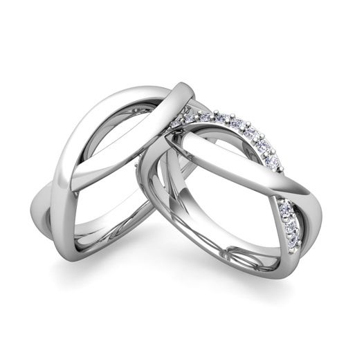 Custom Infinity Wedding Ring Band For Him And Her With