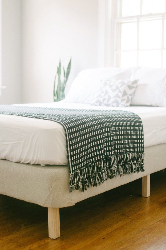 Turn An Old Box Spring Mattress Into Stand Alone Bed