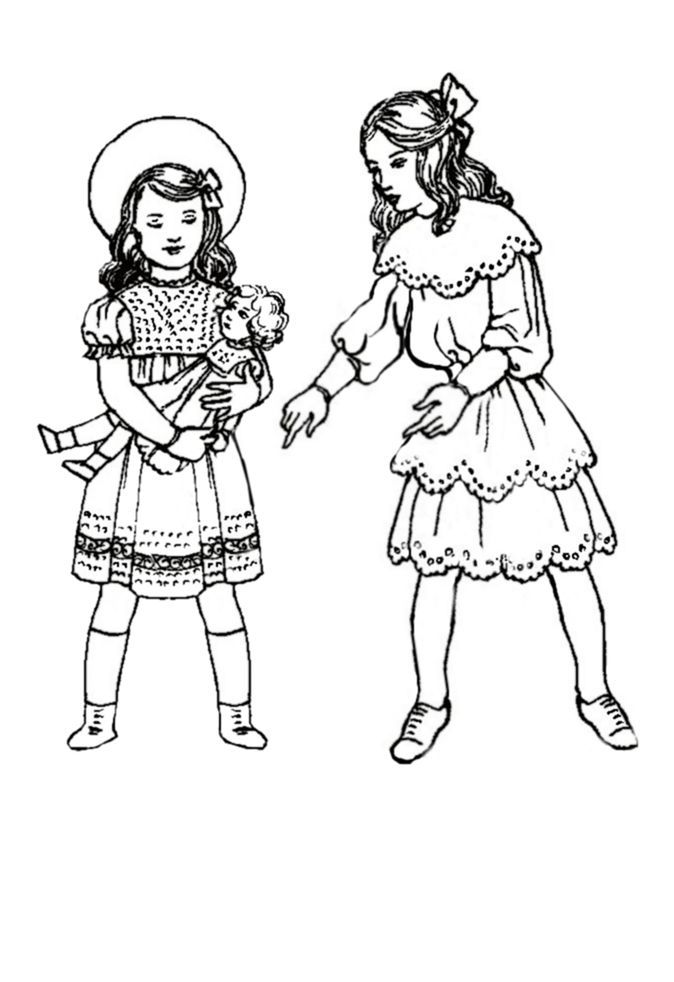 th colouring in pictures of edwardian children s costume