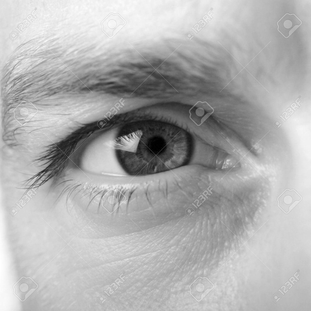 Male Black And White Eye