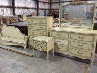 Six Piece Vintage Drexel French Provincial Bedroom Set ...