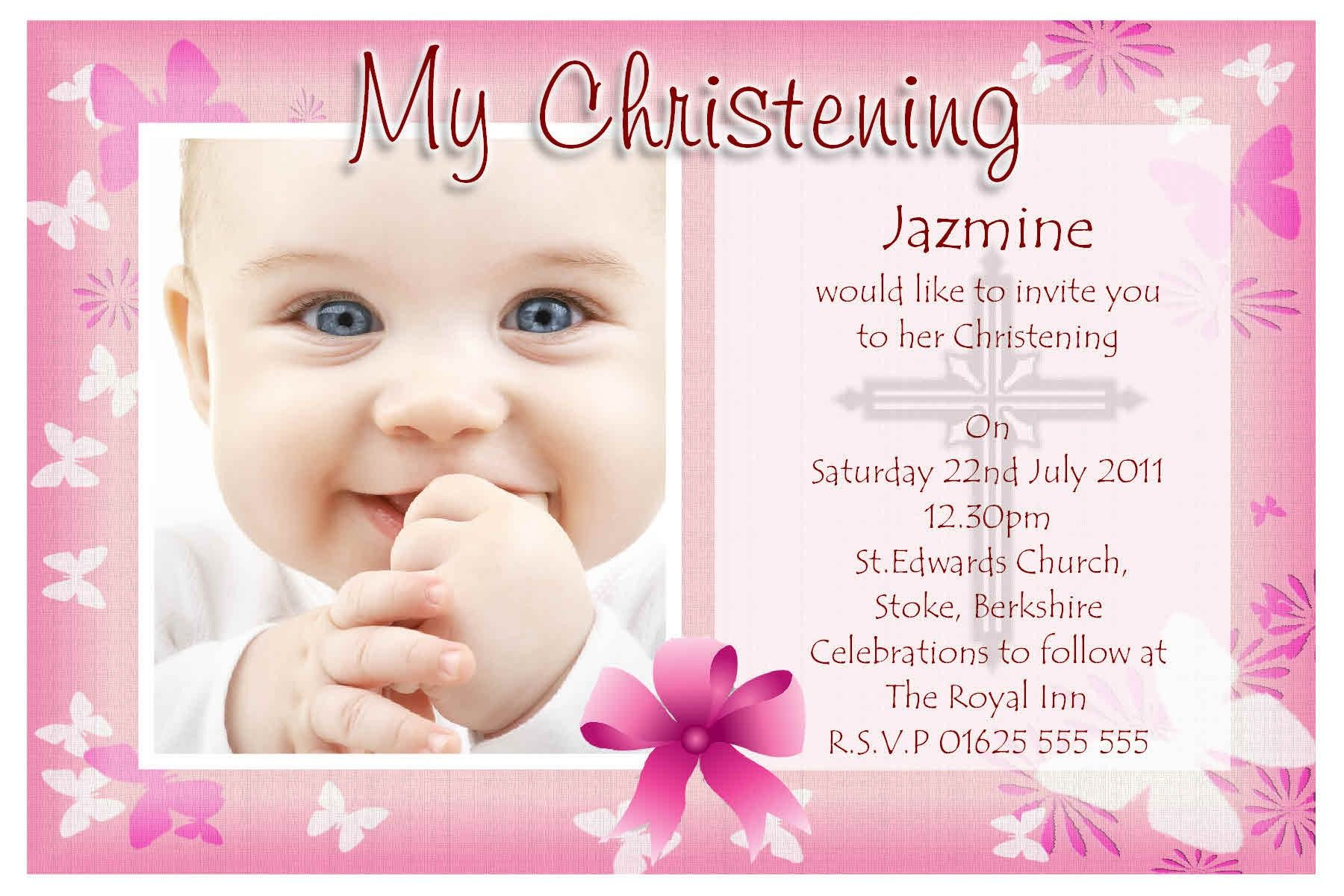 Baptismal Maker Invitation Free