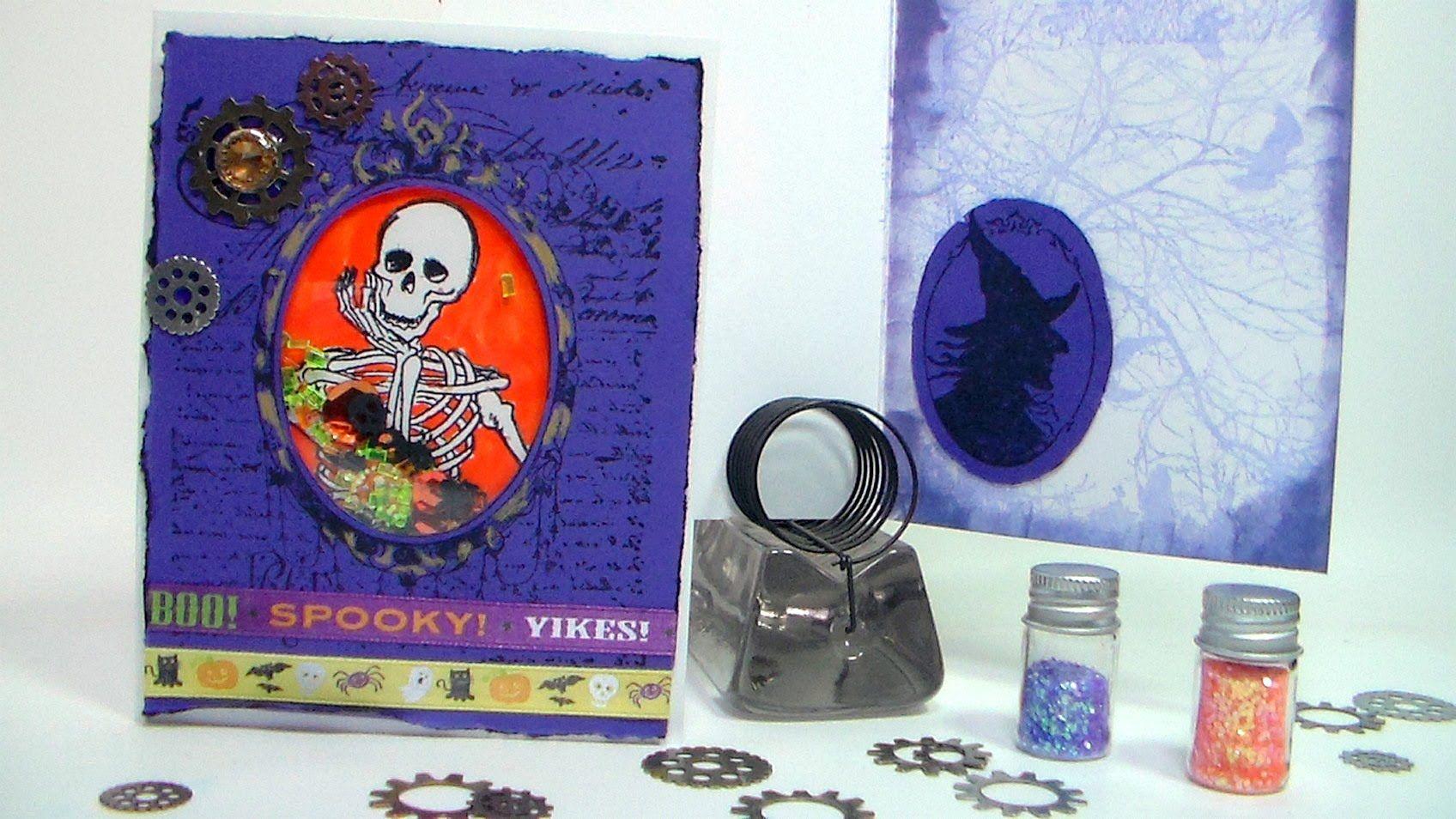 Stamp School 14: How To Make A Shaker Card {Halloween Skeleton Shaker!)