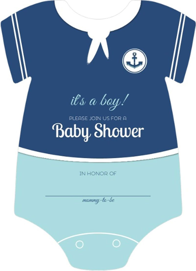 Fill In The Blank Baby Shower Invitations Part - 22: Sailor Onesie Boys Nautical Themed Fill In Blank Baby Shower