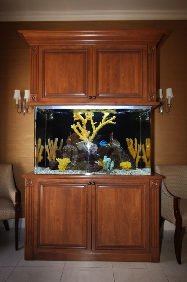 Custom Stained Aquarium Cabinets and other Custom Home