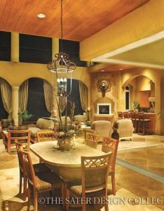 Alamosa featured plans sater design collection also house plan indoor outdoor room and dining area rh pinterest