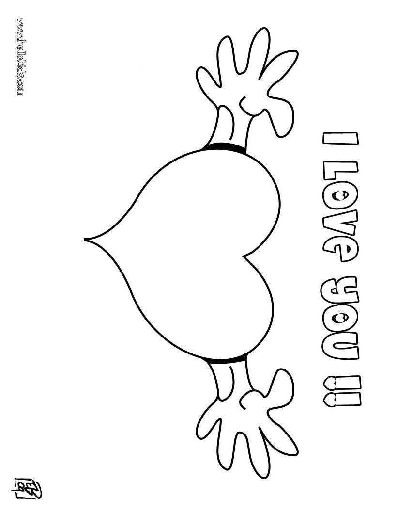 I Love You Coloring Pages Kostenloses Tägliches Tarot Kartenlegen