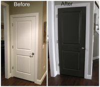 black interior doors before and after