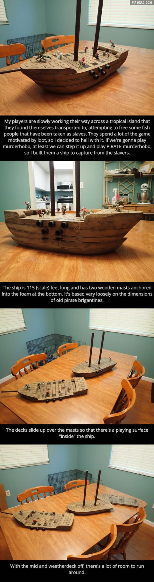 a guy made a dungeons dragons pirate ship