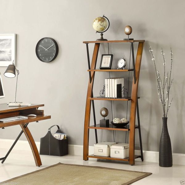 Birch - Whalen Grayson Collection Bookcase Wood Glass