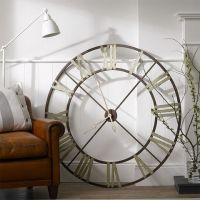 Giant iron wall clock | Home Decor | Pinterest | Clock ...