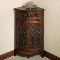 Lombardy Corner Storage Accent Cabinet | English walnut ...
