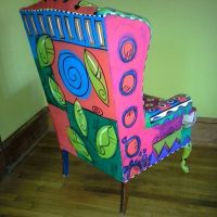 Hand painted Wing Chair by monapaints on Etsy ...