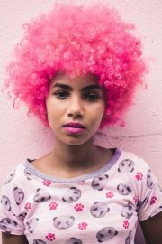 pink afro nappy