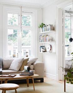 Cozy scandinavian living room via stadshem also weekend countdown rooms rh pinterest