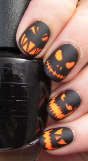 halloween nail art ideas orange