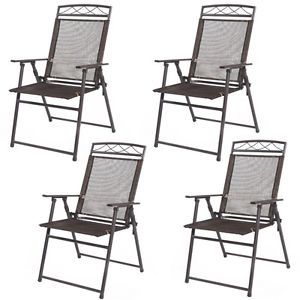 patio folding chair what is best height for rail with 8 ceilings image result pool chairs and pinterest giantex set of 4 sling steel textilene camping deck garden material frame overall dimensions x from