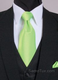 Black vest with lime green tie | To Be Together Forever ...