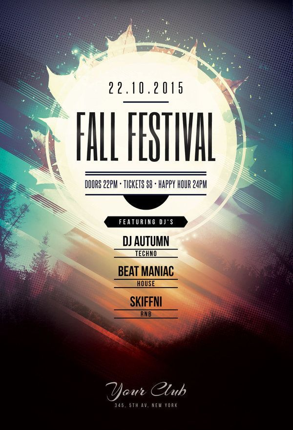 Fall Festival Flyer by styleWish Buy PSD file  9 design poster graphic  Festival