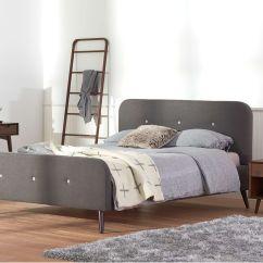 Bedroom Chair With Blanket Slim High Virklund Bed Frondosa Rack Juneau Vanity Table