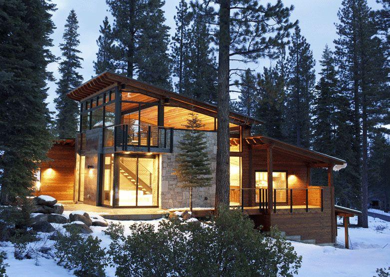 Modern Mountain Home On Pinterest  Mountain Home Exterior