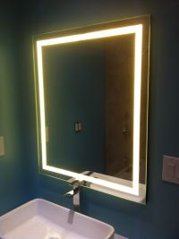 LED Backlit Mirror | Backlit mirror, Backlit bathroom ...