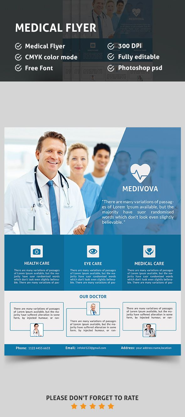 Medical Flyer Flyers Design Pinterest Medical Psd