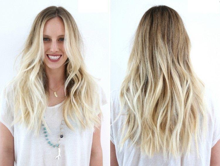 Lange Blonde Haare Zwei Lange Stufen Beauty Pinterest