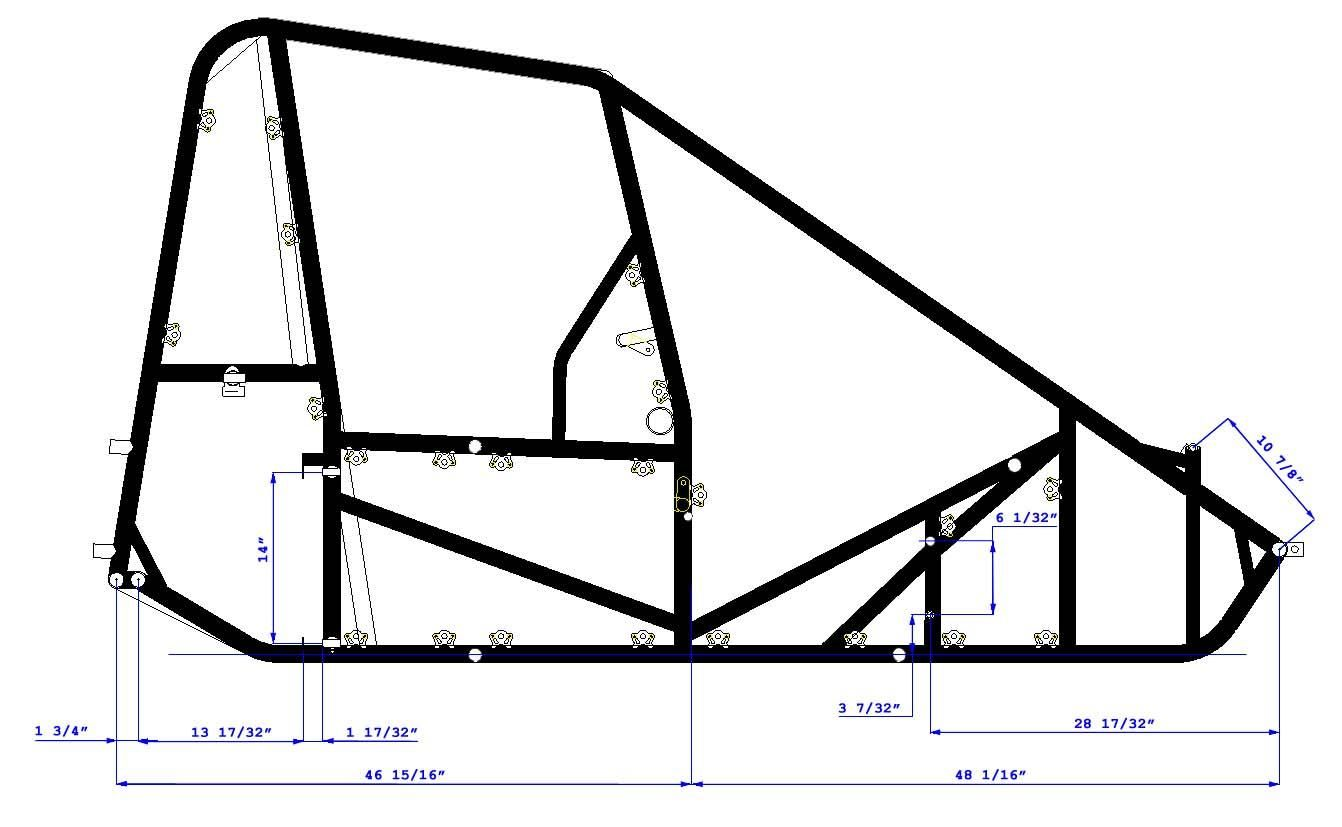 Midget Chassis Right Side 827