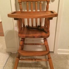 Jenny Lind Rocking Chair Slip Cover Chairs Vintage Wooden High Antique