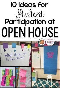 Ten Ideas For Student Participation During Open House Or Meet The