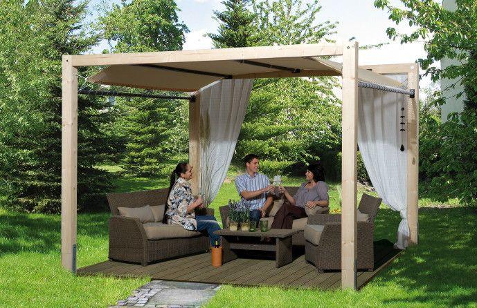 Pavillon WEKA Gartenoase 235 Mit Planendach Kaufen Im Holz