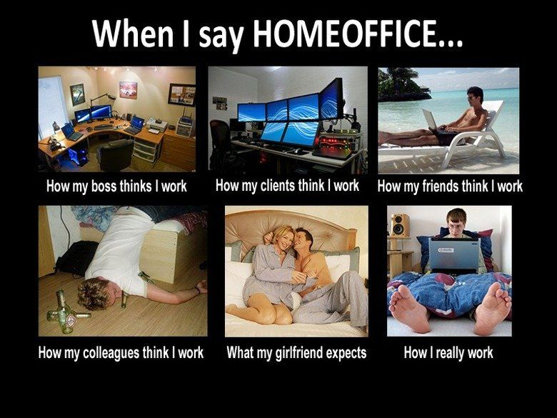 when i say home office