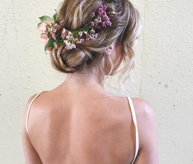 Effortless Bridal Updo Hairstyle Fabmood Wedding Colors Wedding Themes Wedding Color Palettes