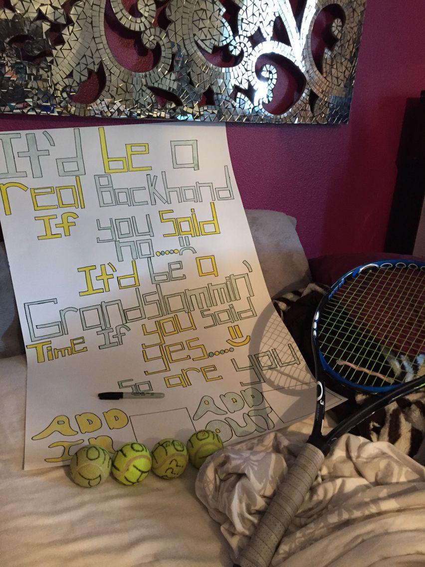 Tennis Promposal ╔ Clever Ideas ╝ Pinterest
