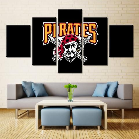 Pittsburgh pirates mlb baseball panel canvas wall art home decor also rh pinterest