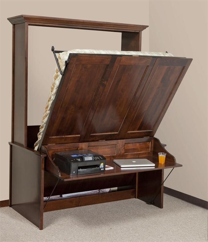 Vertical Murphy Wall Bed and Desk