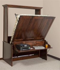 Vertical Murphy Wall Bed and Desk | Murphy bed, Desks and ...