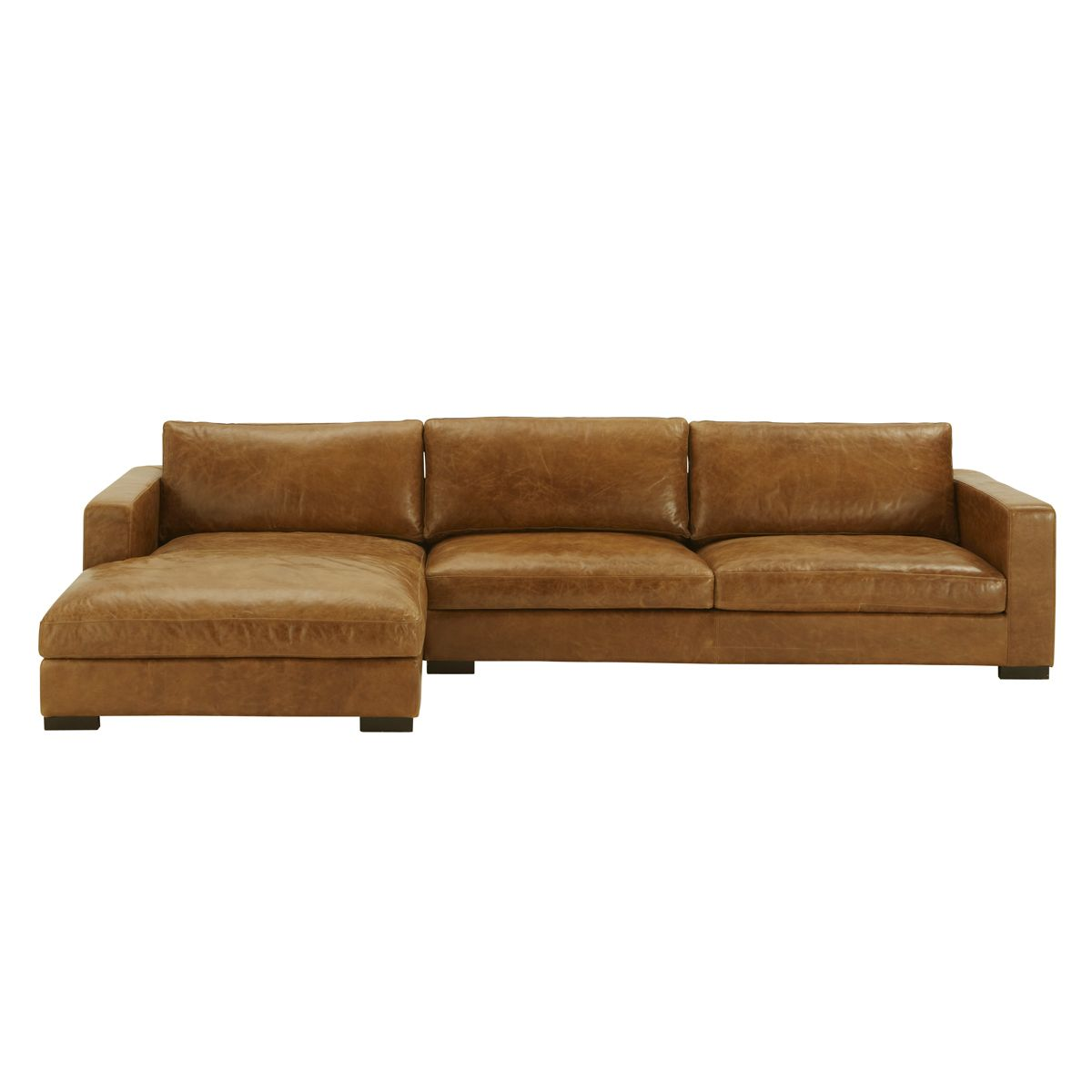 california sofa mfg protector for dogs uk canapé d 39angle 5 places fixe cuir vintage marron lincoln