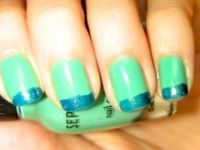Nail Tutorial: Glitter Teal French Manicure   My Style ...