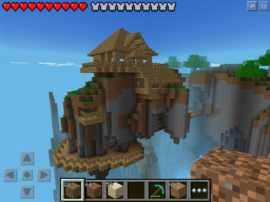 W2 Floating House In Minecraft PE My Minecraft Pinterest