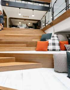 Inside bedrock   stunning new offices in  long vacant downtown building curbed detroit also rh pinterest
