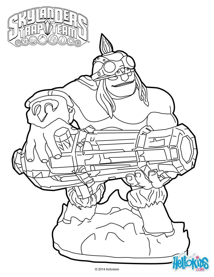 Ka-Boom comes from Skylanders Trap Team. More skylanders