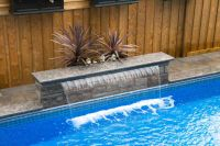 pool fountains | Sheer Descent waterfalls help to create ...